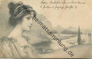 Jugendstil - Art nouveau - Junge Frau - M. M. Vienne gel. 1902