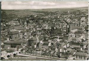 Würzburg - Blick von der Festung Marienberg - Foto-Ansichtskarte Großformat