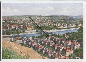 Würzburg - Blick von der Festung Marienberg - Naturfarbenkarte