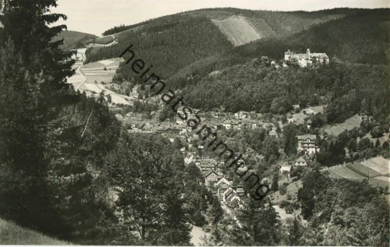 Leutenberg - Blick vom Neuen Weg -  Foto-AK 60er Jahre - Verlag Photo-König Lobenstein 60er Jahre