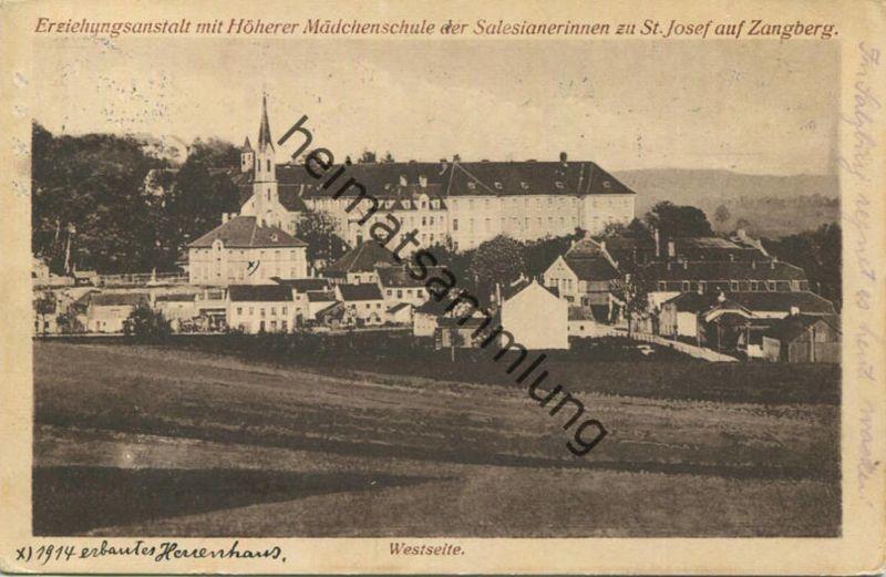 Zangberg - Erziehungsanstalt mit Höherer Mädchenschule der Salesianerinnen zu St. Josef - Westseite - Verlag August Zerl