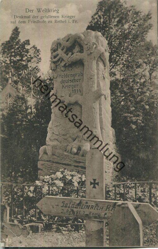 Rethel - Friedhof - Denkmal der gefallenen Krieger - Feldpost