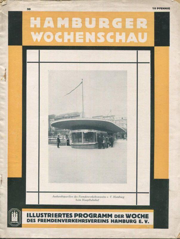 Hamburger Wochenschau Juli 1929 - 18 Seiten