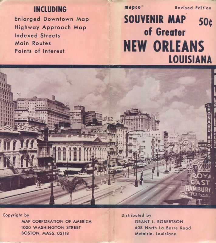 USA - New Orleans Louisiana - Souvenir Map 78cm x 112cm - Stadtplan