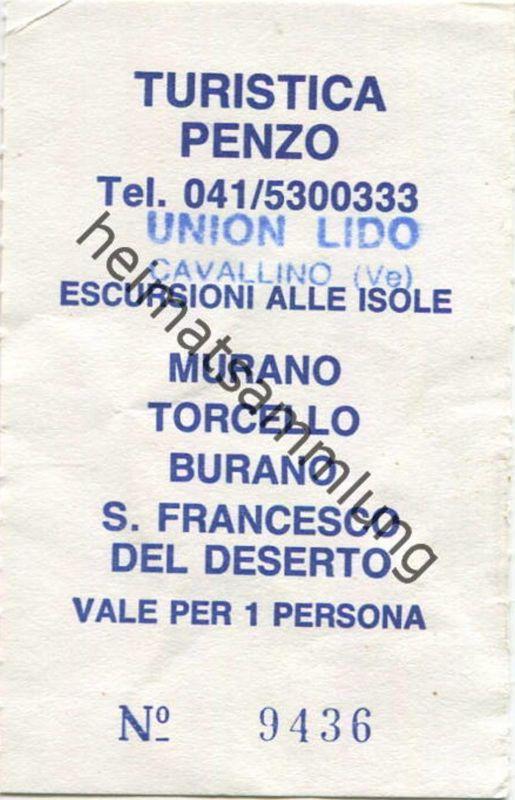 Italien - Union Lido - Cavallino - Turistica Penzo - Fahrschein