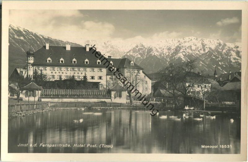 Imst in Tirol - Hotel Post - Foto-Ansichtskarte