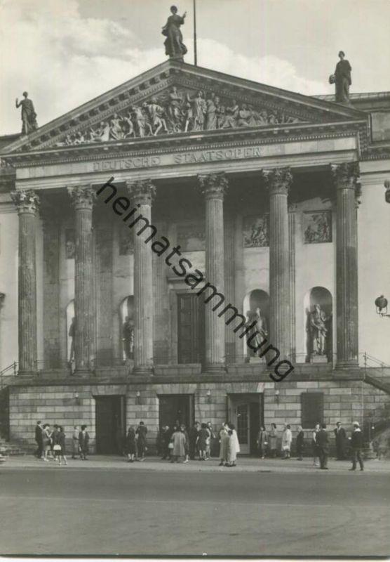 Berlin - Mitte - Deutsche Staatsoper - Foto-AK Grossformat 1965 - Verlag VEB Bild und Heimat Reichenbach