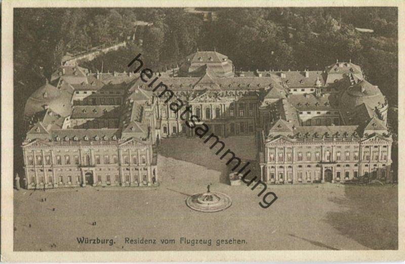 Würzburg - Residenz - Flugzeugaufnahme