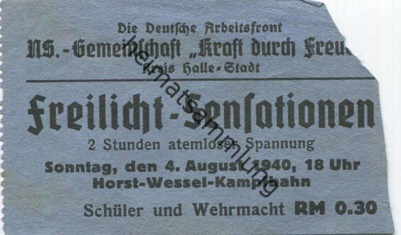 Deutschland - Die Deutsche Arbeitsfront - NS-Gemeinschaft Kraft durch Freude - Kreis Halle-Stadt - Freilicht-Sensationen