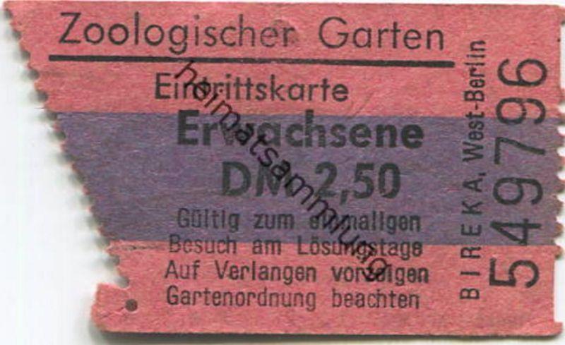 Deutschland - Berlin - Zoologischer Garten Berlin - Eintrittskarte
