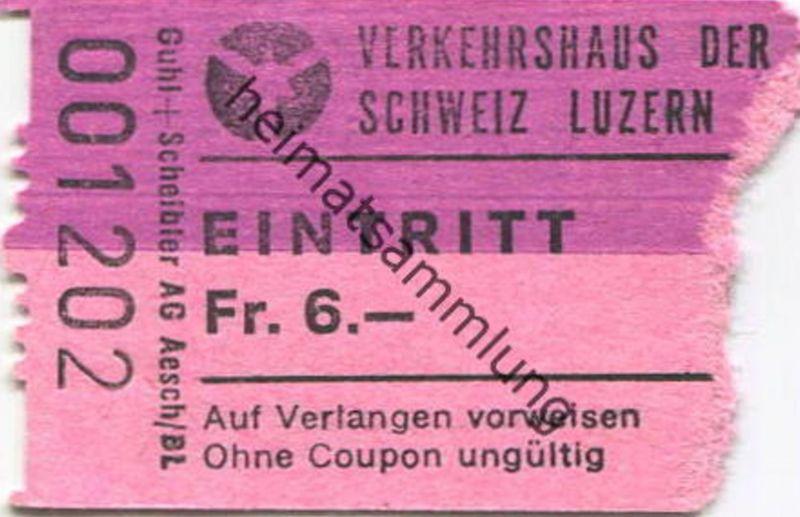 Schweiz -Verkehrshaus der Schweiz Luzern - Eintrittskarte