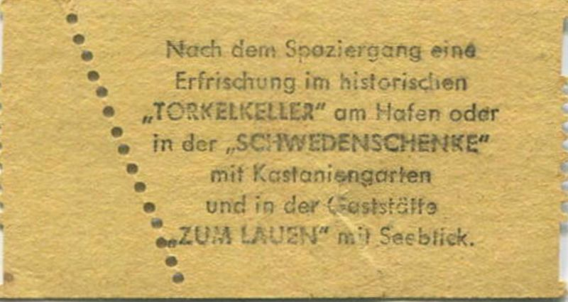 Insel Mainau Karte.Deutschland Insel Mainau Bodensee Eintrittskarte Parkbesichtigung Dm 1 50 Rückseitig Werbung Für Torkelkeller Und