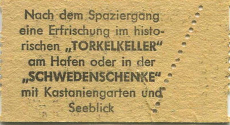 Insel Mainau Karte.Deutschland Insel Mainau Bodensee Eintrittskarte Parkbesichtigung Dm 1 Rückseitig Werbung Für Torkelkeller Und