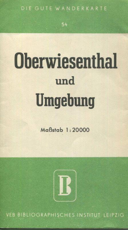 Deutschland - Die gute Wanderkarte - Oberwiesenthal und Umgebung 1:20000 - VEB Bibliogaphisches Institut Leipzig - Mehrf