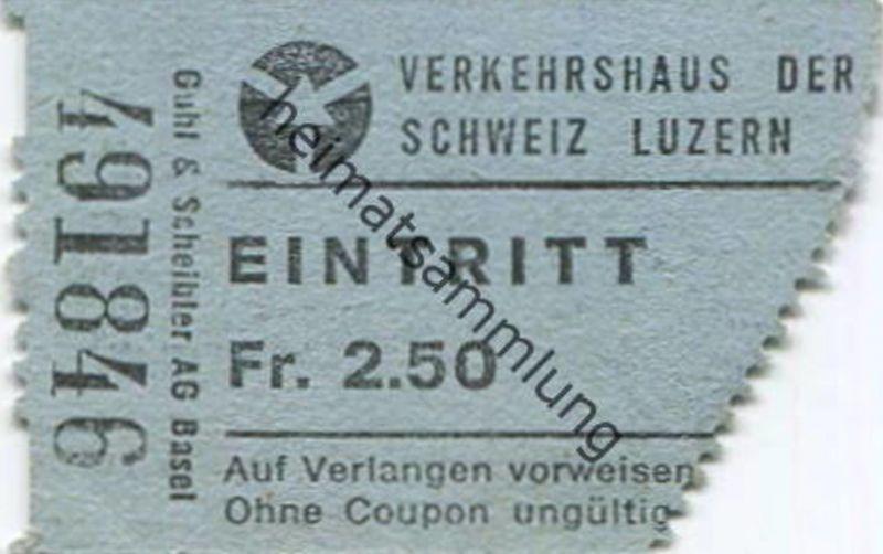 Schweiz - Verkehrshaus der Schweiz Luzern - Eintrittskarte