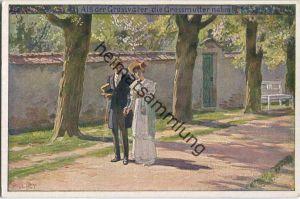 Paul Hey - Volksliederkarte Nr. 54 - Als der Großvater die Großmutter nahm - Künstlerkarte 20er Jahre