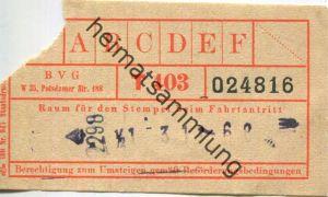 Deutschland - Berlin - BVG-Fahrschein