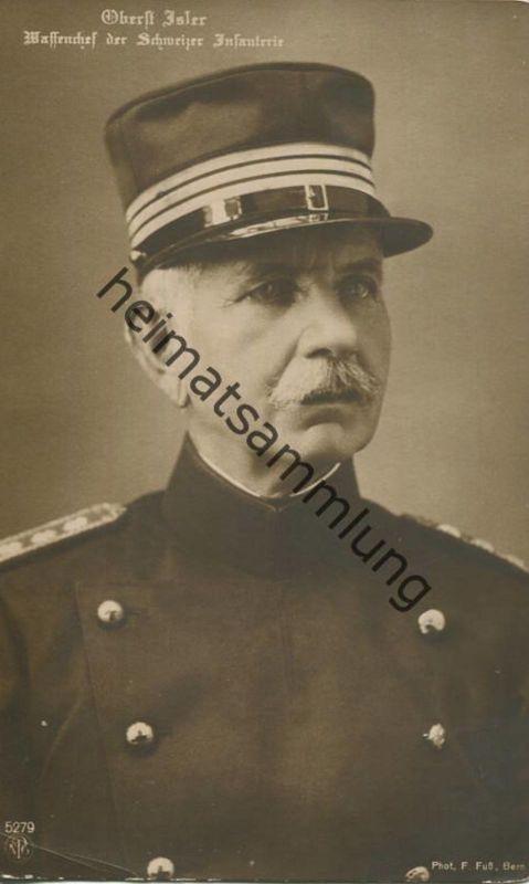 Schweiz - Militär - Oberst Isler - Waffenchef der Schweizer Infanterie