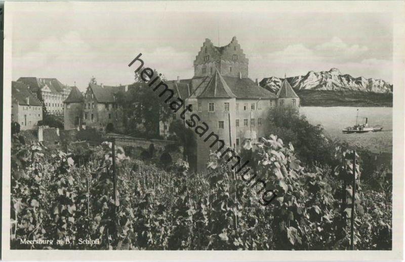 Meersburg Schloss Foto Ansichtskarte Verlag Emil Roth