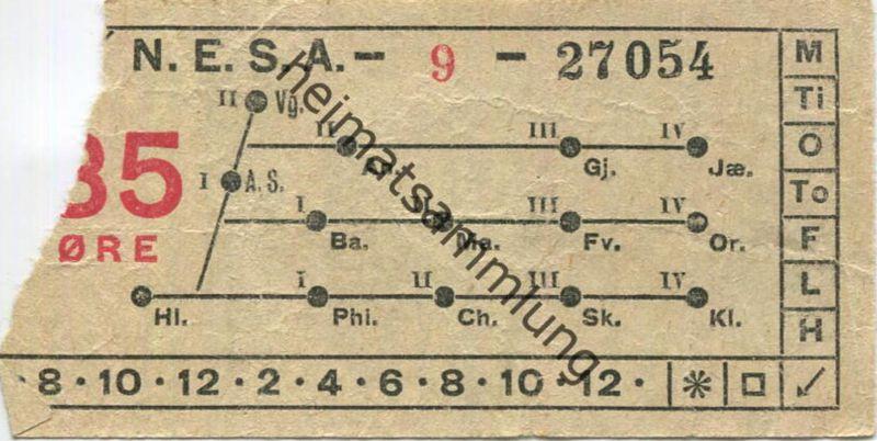 Dänemark N.E.S.A. - Fahrschein 25 Öre - Ticket  - Fahrschein