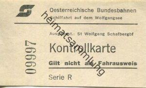 Österreich - Oesterreichische Bundesbahnen - Schiffahrt auf dem Wolfgangsee - Ausgabestelle St. Wolfgang Schafbergbahnho