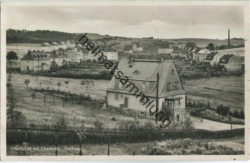 Dittersdorf - Siedlung - Foto-Ansichtskarte