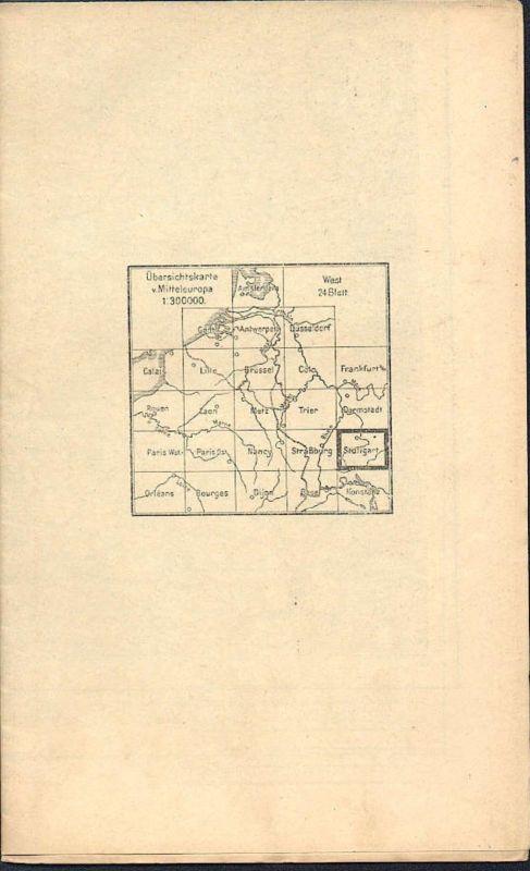 Deutschland - Übersichtskarte von Mitteleuropa - Stuttgart - Mehrfarbenkarte 1:300000 - Herausgegeben von der Kartograph