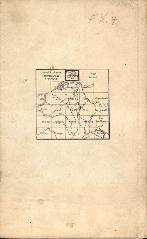 Niederlande - Übersichtskarte von Mitteleuropa - Amsterdam - Mehrfarbenkarte 1:300000 - Herausgegeben von der Kartograph