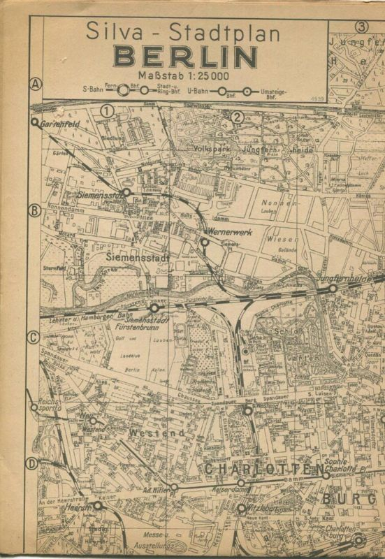 Deutschland - Silva Stadtplan Berlin 30er Jahre - 1:25000 - 50cm x 70cm - Verlag für Heimatliche Kultur Willy Holz Berli