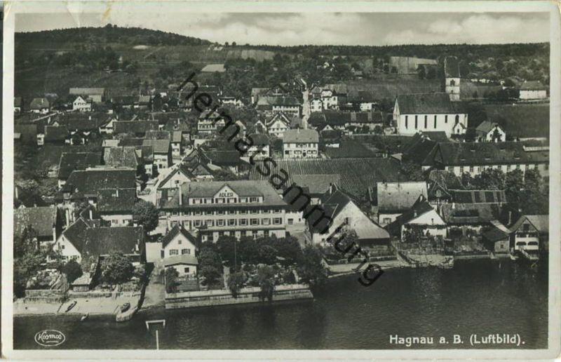 Hagnau am Bodensee - Flugzeugaufnahme - Foto-Ansichtskarte