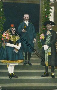 Hessische Trachten - Schwälmer Brautpaar