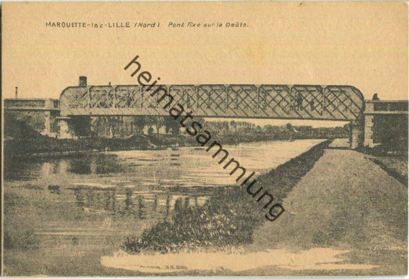 Marquette-lez-Lille - Pont fixe sur la Deule