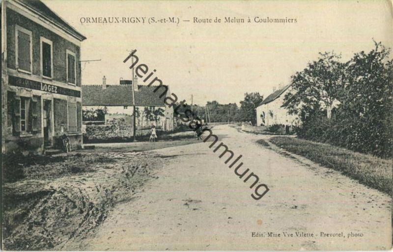 Ormeaux-Rigny - Route de Melun à Coulommiers