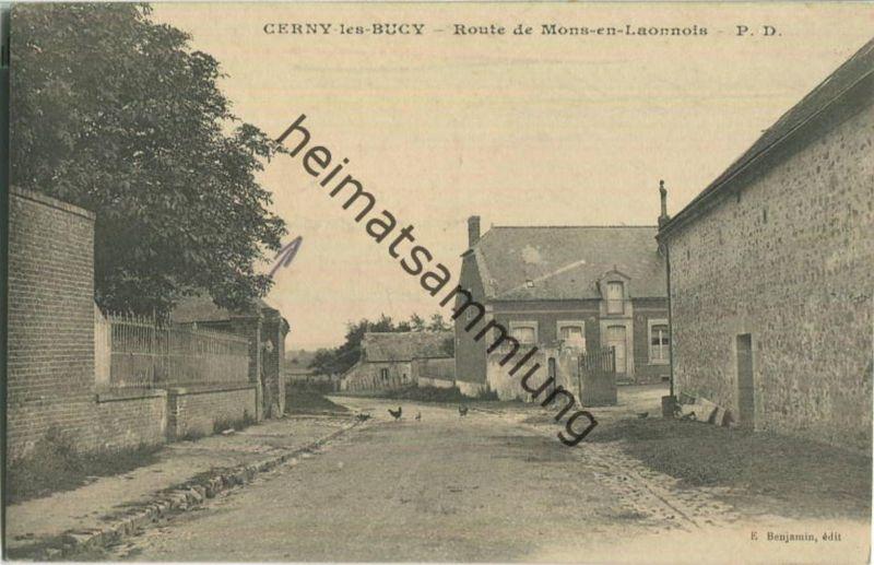 02870 Bucy-les-Cerny - Route de Mons-en-Laonnois - Feldpost