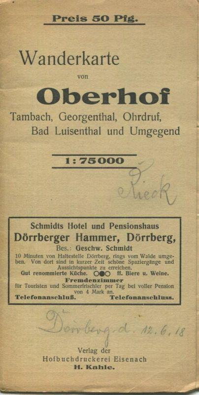 Deutschland - Wanderkarte von Oberhof Tambach Georgenthal Ohrdruf Bad Luisenthal und Umgebung - 1:75000 - Verlag Hofbuch