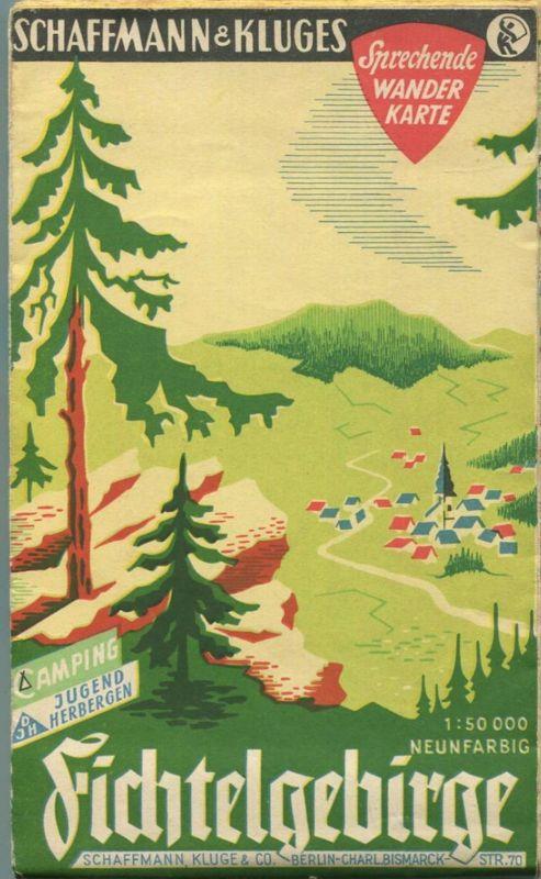 Deutschland - Fichtelgebirge - 1:50000 neunfarbig - Camping Jugendherbergen - Sprechende Wanderkarte - Verlag Schaffmann