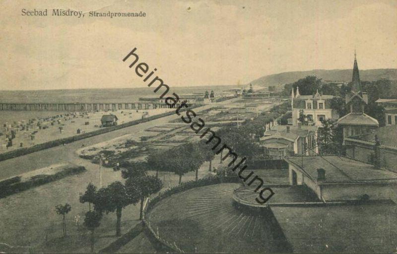 Misdroy - Strandpromenade - Verlag Siegmund Weil Stettin - gel. 1912