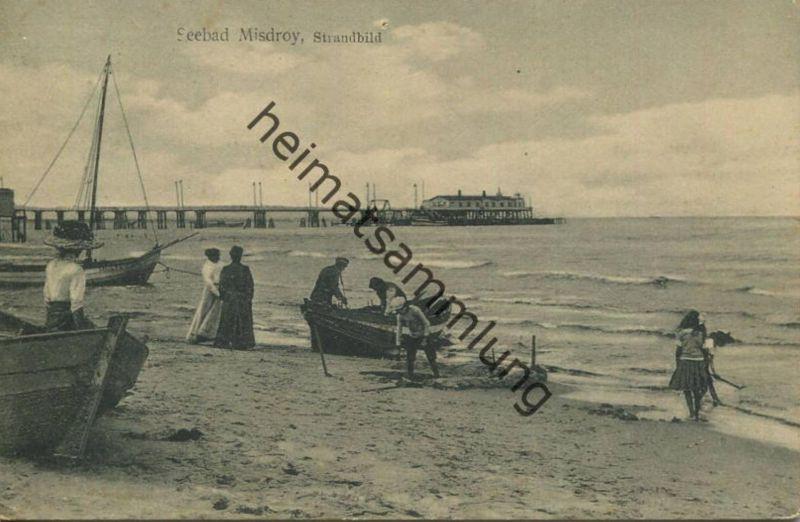Misdroy - Strandbild - Verlag Sigmund Weil Stettin - gel. 1912