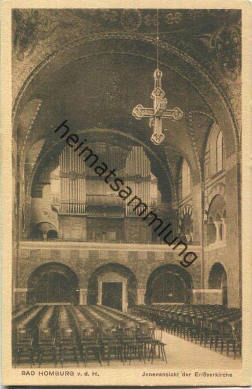 Bad Homburg vor der Höhe - Erlöserkirche - Orgel - Verlag Wilh. Gerling Darmstadt