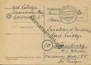 Ilsenburg - Notausgabe - Ganzsache - Gebühr bezahlt Stempel - gel. 1945