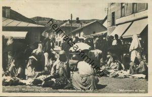 Sarajewo - Mohammedaner auf dem Markt - Foto-AK 30er Jahre