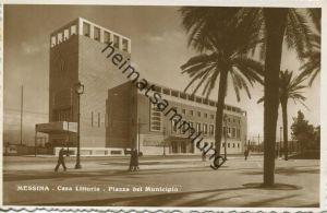 Messina - Casa Littoria - Piazza del Municipio - Foto-AK 1942 Vera Fotografia