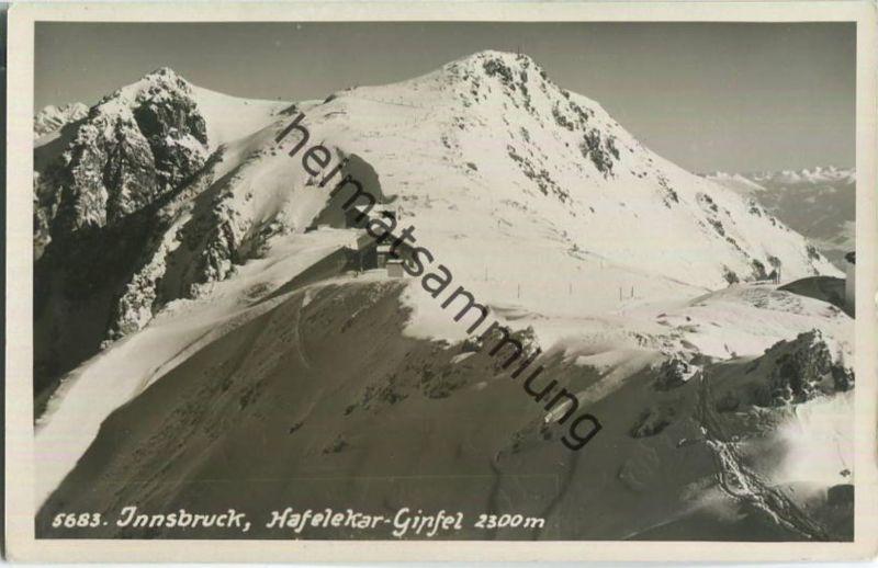 Innsbruck - Hafelekar-Gipfel - Hütte - Foto-Ansichtskarte