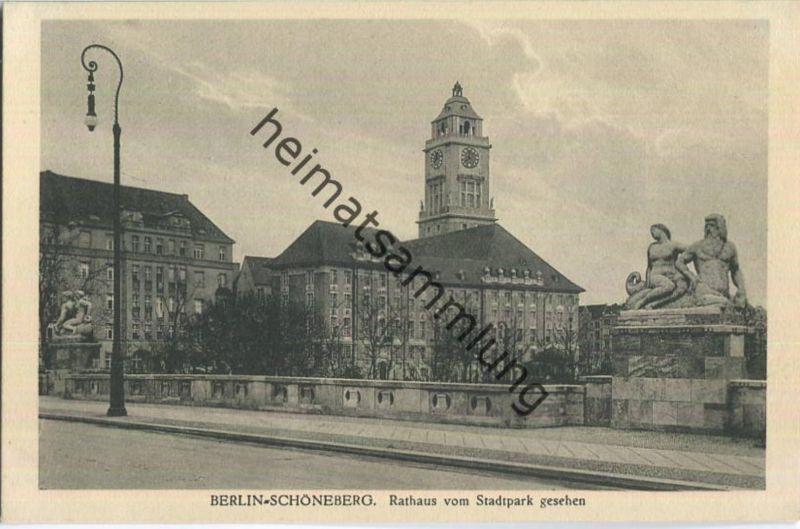 Berlin - Schöneberg - Rathaus vom Stadtpark aus gesehen - Verlag J. Goldiner Berlin 30er Jahre