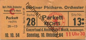 Deutschland - Berlin - Konzertsaal der Hochschule für Musik Hardenbergstrasse - Berliner Philharmonisches Orchester - Ei
