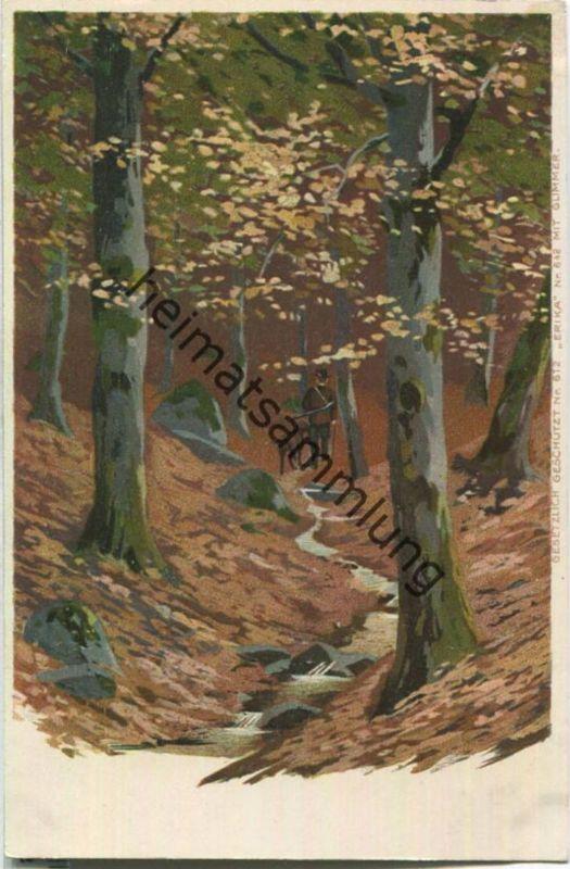 Jagd - Jäger - Jagdhund - Künstleransichtskarte ca. 1900