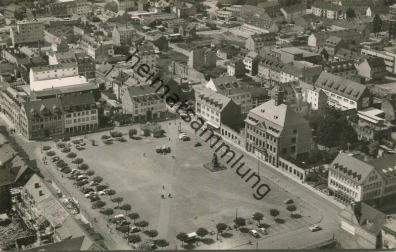 Hanau - Luftbild - Foto-AK - Verlag Werner Dausien Hanau 60er Jahre