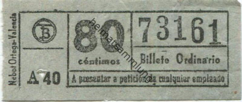 Spanien - Fahrschein 50er Jahre