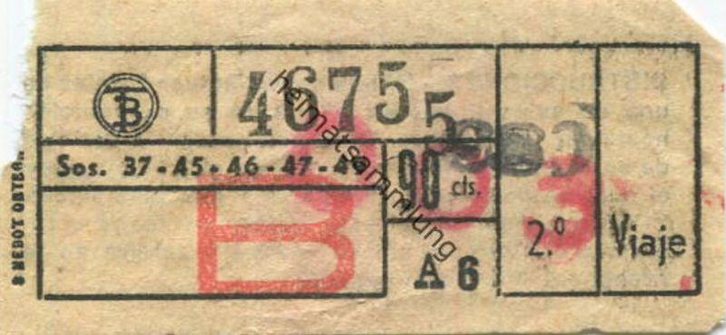 Spanien - Schiff - Fahrschein 50er Jahre
