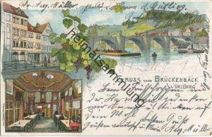 Würzburg - Brückenbäck - Verlag Franz Scheiner Würzburg